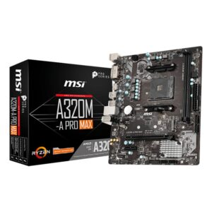 MSI A320M PRO-A MAX AMD AM4 m-ATX Gaming Motherboard A320M-PRO-A-MAX 01
