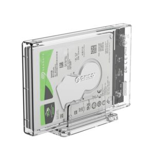 Orico 2.5 USB3.0 External Hard Drive Enclosure Transparent 01