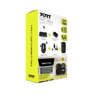 Port Connect Type C 5in1 & USB 3.0 Mobility Pack box
